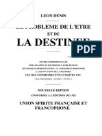 Le Probleme de l Etre Et de La Destinee-Leon Denis