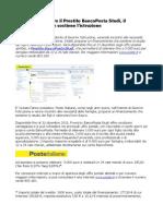 Poste Italiane Offre Prestito BancoPosta Studi