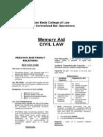 Memory Aid CIVIL