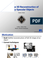 Multi-View 3D Reconstruction of Specular Objects and Normal Field Integration