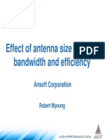 Effect of Antenna Size on Gain Bandwidth