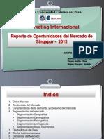 Oportunidades Comercio PERU SINGAPUR 2012