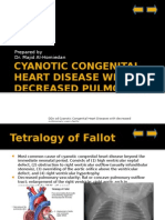 Cyanotic Congenital Heart Disease With Decreased Pulmonary Blood Flow