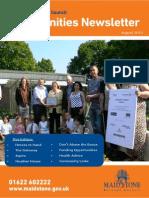 Communities Newsletter August 2013