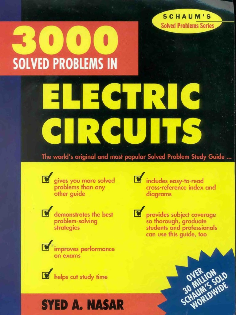 3000 Solved Problems In Electric Circuits Schaums border=