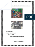 Hasil Karya Seni Rupa Murni Nusantara
