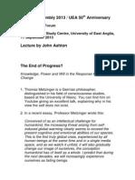 John Ashton Tyndall Centre Lecture
