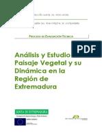 Analisis y Estudio Del Paisaje Vegetal y Su Dinamica en La r