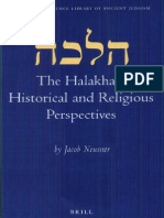 Jacob Neusner the Halakhah Historical and Religious Perspectives Brill Reference Library of Judaism 2002
