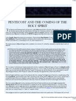 Pentecost and the Coming of the Holy Spirit
