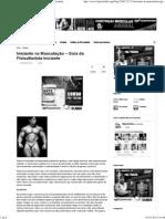Iniciante na Musculação – Guia do Fisiculturista Iniciante