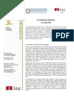 ISTAT 2008.2009 - Le molestie sessuali