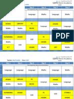 grade 2 af schedule