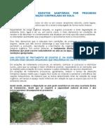 TRATAMENTO DE ESGOTOS SANITÁRIOS POR PROCESSO ANAERÓBIO E DISPOSIÇÃO CONTROLADA NO SOLO