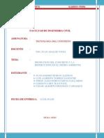 Producción del concreto y  la repercusión en el medio ambiente