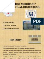 Prezentarea scolii noastre, asa cum era in 2011