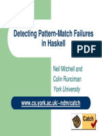 Slides-Detecting Pattern Match Failures in Haskell-26 Nov 2007