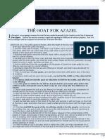 The Goat for Azazel