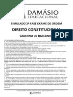 Simulado Damásio OAB 2 FASE XI exame Direito Constitucional