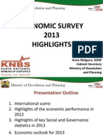 Kenya Economic Survey 2013