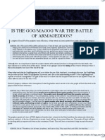 Is the Gog/Magog War the Battle of Armageddon?
