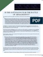 Is the Gog/Magog War the Battle of Armageddon?