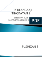 Kuiz Ulangkaji Sains Tingkatan 2