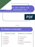Consejos para una buena presentación oral