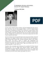 Biografi Presiden Negara Indonesia