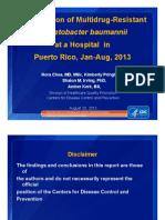 CDC - Puerto Rico Acinetobacter Baumannii Jan-Aug 27, 2013