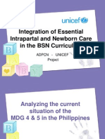 Integration of Essential Intrapartal and Newborn Care in the BSN Curriculum - ADPCN-UNICEF Project