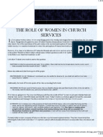 The Role of Women in Church Services