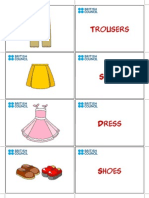 Kids Flashcards Clothes 2