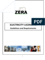 ELECTRICITY LISENSING Guidelines and Requirements