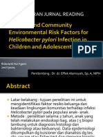 Familial and Community Environmental Risk Factors for Helicobacter