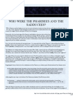 Who Were the Pharisees and the Sadducees?