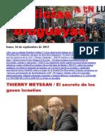 Noticias Uruguayas Lunes 16 de Setiembre Del 2013
