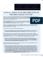 Acts 15 - What was the Objective of the Jerusalem Council?