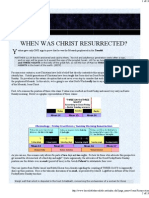 When was Christ Resurrected?