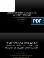 collaborating with students in university archives