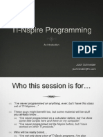 TI Nspire Programming
