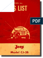 Jeep CJ3B Catalogo de Pecas