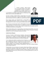 Biografias de Juan Rulfo, Gabriel Garcia Maquez,Mario Vargas Llosa