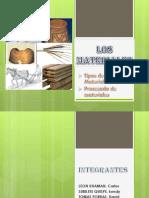 Tipos y Precesos de Materiales
