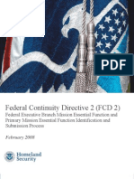 federal continuity directive 2 dhs