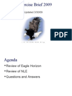eagle horizon 09 continuity of government drill