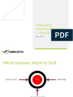 Forecepts Tech Sharing OWASP Top 10 (2013)