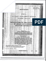 1960 nie implications of israel acquisition of nuclear weapons