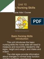 Unit 10-Basic Nursing Skills