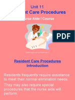 Unit 11-Resident Care Procedures